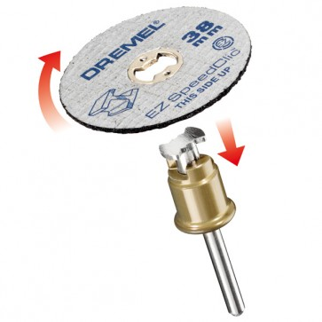 DREMEL® EZ SpeedClic: include 5 dischi da taglio per metallo. (SC456)