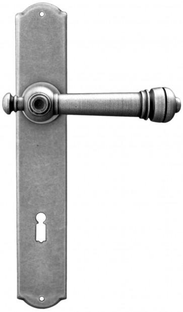 Maniglia Classica per Porta in ferro battuto Galbusera Art.2850 antichizzata Silver