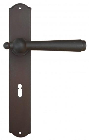 Maniglia Classica per Porta in ferro battuto Galbusera Art.2900 antichizzata ruggine
