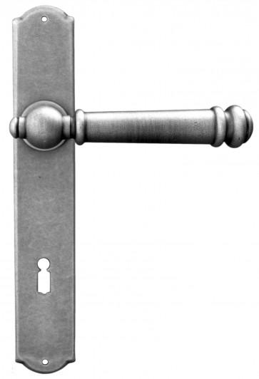 Maniglia Classica per Porta in ferro battuto Galbusera Art.2950 Silver