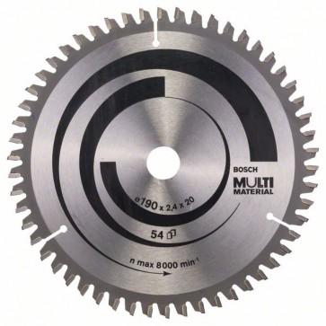 Bosch Lama per seghe circolari Multi Material 190 x 20/16 x 2,4 mm, 54