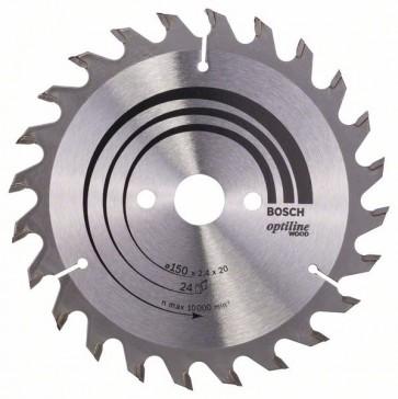 Bosch Lama per sega circolare Optiline Wood 150 x 20/16 x 2,4 mm, 24