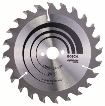Bosch Lama per sega circolare Optiline Wood 160 x 20/16 x 2,6 mm, 24