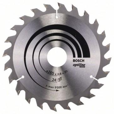 Bosch Lama per sega circolare Optiline Wood 165 x 30 x 2,6 mm, 24