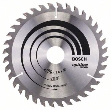 Bosch Lama per sega circolare Optiline Wood 180 x 30/20 x 2,6 mm, 36