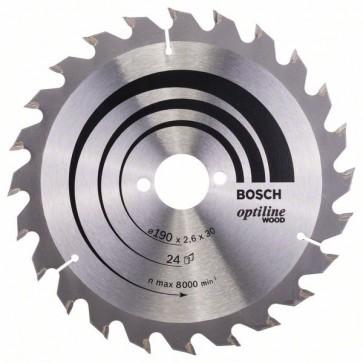 Bosch Lama per sega circolare Optiline Wood 190 x 30 x 2,6 mm, 24