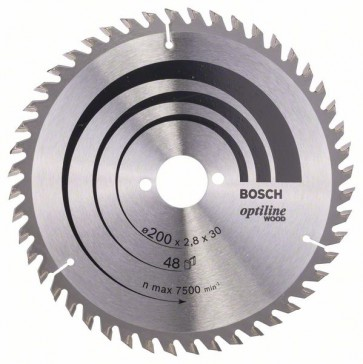 Bosch Lama per sega circolare Optiline Wood 200 x 30 x 2,8 mm, 48