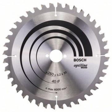 Bosch Lama per sega circolare Optiline Wood 250 x 30 x 3,2 mm, 40