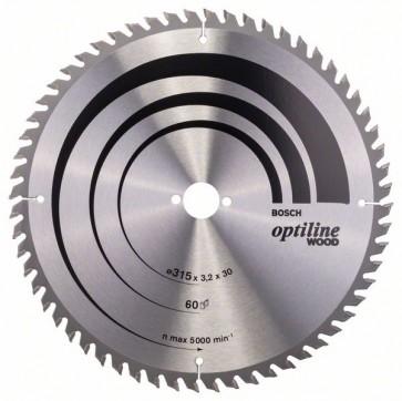 Bosch Lama per sega circolare Optiline Wood 315 x 30 x 3,2 mm, 60