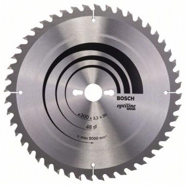 Bosch Lama per sega circolare Optiline Wood 300 x 30 x 3,2 mm, 48