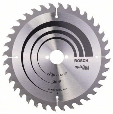 Bosch Lama per sega circolare Optiline Wood 230 x 30 x 2,8 mm, 36