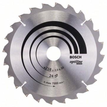 Bosch Lama per sega circolare Optiline Wood 216 x 30 x 2,0 mm, 24