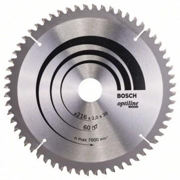 Bosch Lama per sega circolare Optiline Wood 216 x 30 x 2,0 mm, 60