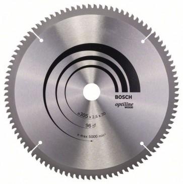 Bosch Lama per sega circolare Optiline Wood 305 x 30 x 2,5 mm, 96