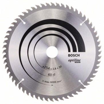 Bosch Lama per sega circolare Optiline Wood 254 x 30 x 2,8 mm, 60