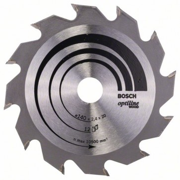 Bosch Lama per sega circolare Optiline Wood 140 x 20/12,7 x 2,4 mm, 12