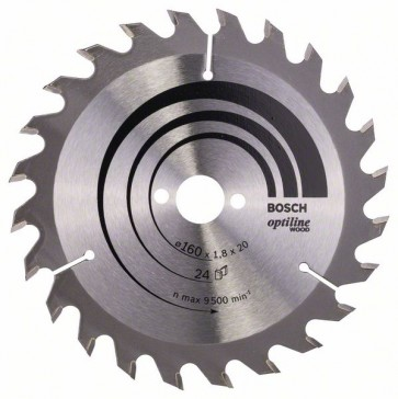 Bosch Lama per sega circolare Optiline Wood 160 x 20/16 x 1,8 mm, 24