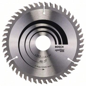 Bosch Lama per sega circolare Optiline Wood 165 x 30 x 2,6 mm, 48