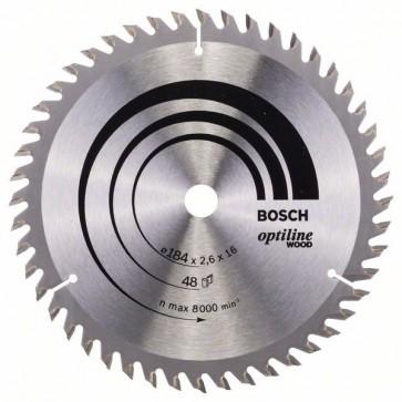 Bosch Lama per sega circolare Optiline Wood 184 x 16 x 2,6 mm, 48