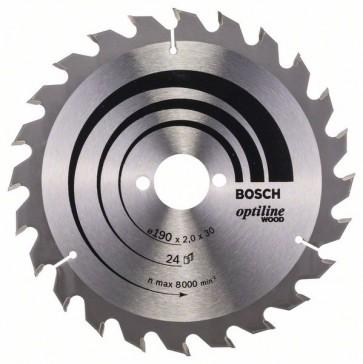 Bosch Lama per sega circolare Optiline Wood 190 x 30 x 2,0 mm, 24