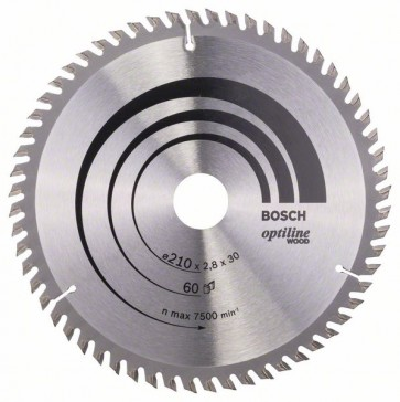 Bosch Lama per sega circolare Optiline Wood 210 x 30 x 2,8 mm, 60
