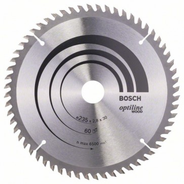 Bosch Lama per sega circolare Optiline Wood 235 x 30/25 x 2,8 mm, 60