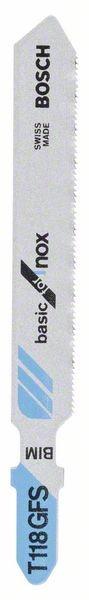 Bosch Lama per seghetto alternativo T 118 GFS Basic for Inox