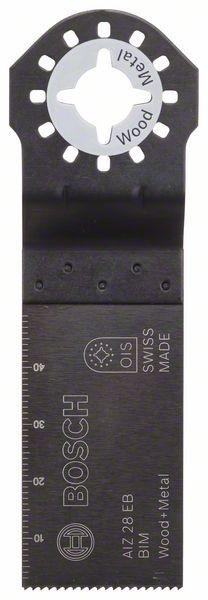 Bosch Lama per tagli dal pieno BIM AIZ 28 EB, Wood and Metal 50 x 28 mm