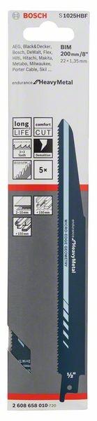Bosch Lama per sega universale S 1025 HBF New Endurance for Heavy Metal