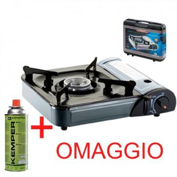 Fornello a GAS portatile accensione elettrica + valigetta + omaggio bombola