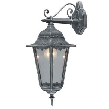 Lanterna da giardino IRLANDA grigio ghisa con  vetro lampada 100w