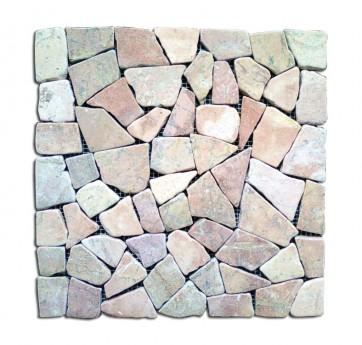 Mosaico pietra naturale supporto in rete ROSA piastrelle 30x30 parete e muri