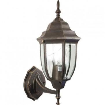 Lanterna da giardino BOMBAY 16x19x38h corpo alluminio vetro lampada 60w