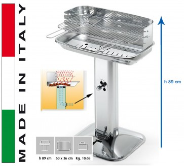 Barbecue Carbone Ompagrill 60-40 Venus/X Pro System H 89 misure 60x36
