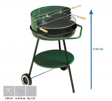 Barbecue Carbone Ompagrill Sirio 450 Altezza 84 diametro 54 cm SERIE GREEN-LINE