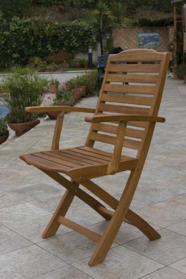 Poltrona Pieghevole IMPERIALE legno balau 56x62x90h per esterno giardino