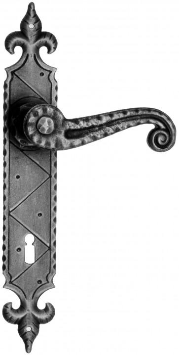 Maniglia Rustica per Porta in ferro battuto Galbusera Art.900 Nero Antico