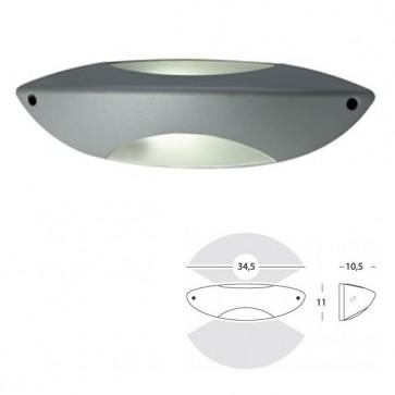 Applique Stretta Art. 493/72 Nero/Alluminio