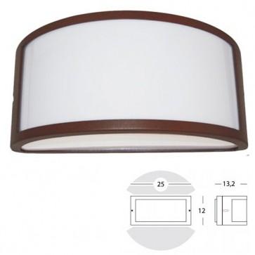 Applique Mezza Luna Aperta Art. 473/36 Grigio/Alluminio/Corten