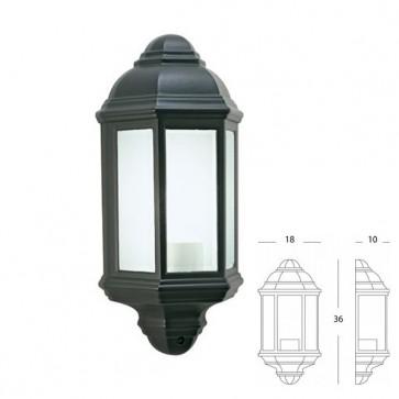 Applique Mezza Lanterna Art. 976/16 Nero/Verde
