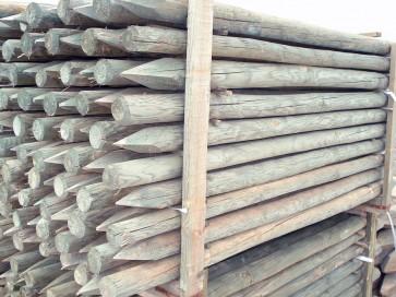 Palo in legno pino 8/10 x300 scortecciati per steccati recinzioni