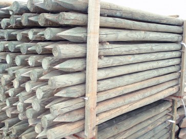 Palo in legno pino scortecciati per steccati recinzioni VARIE MISURE