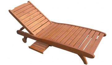 Lettino sdraio in legno prendisole COUNTRY per mare montagna piscina giardino