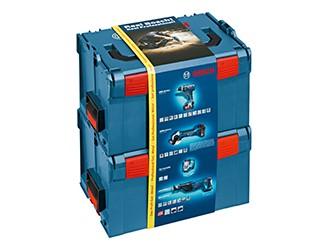 Bosch set per professionisti GSR 18 V-LI  Dynamic + GWS 18 V-LI + GSA 18 V-LI + GLIVariLED