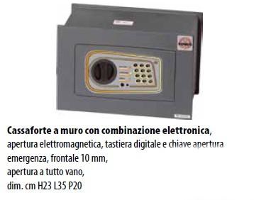 CASSAFORTE A MURO COMBINAZIONE ELETTRONICA DOMUS LOGICA DL/2