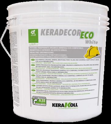 Idropittura Minerale Eco-Compatibile Kerakoll Keradecor ECO White 14Lt
