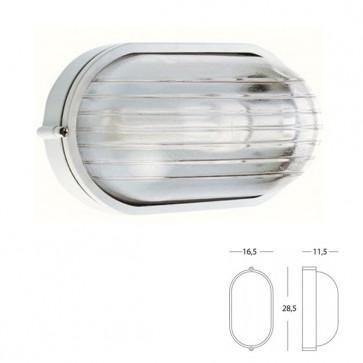 Plafoniera Ovale Grande Art. 701/02 Nero/Bianco