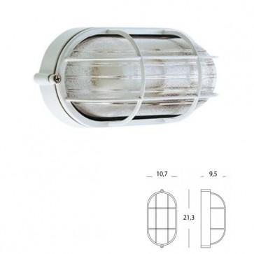 Plafoniera Ovale Piccola con gabbia Art. 702/02 Nero/Bianco