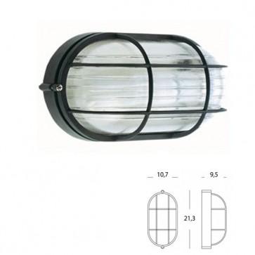 Plafoniera Ovale Piccola con gabbia Art. 702/06 Nero/Bianco