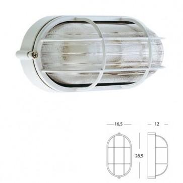 Plafoniera Ovale Grande con gabbia Art. 703/02 Nero/Bianco
